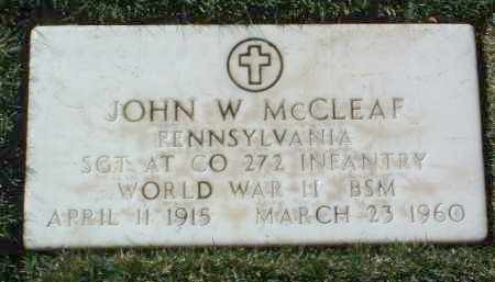 MCCLEAF, JOHN W. - Yavapai County, Arizona   JOHN W. MCCLEAF - Arizona Gravestone Photos