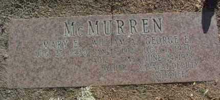 MCMURREN, WILLIAM ALVIN - Yavapai County, Arizona | WILLIAM ALVIN MCMURREN - Arizona Gravestone Photos