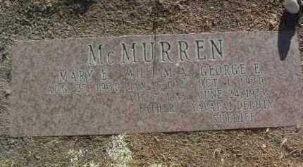 MCMURREN, MARY E. - Yavapai County, Arizona   MARY E. MCMURREN - Arizona Gravestone Photos