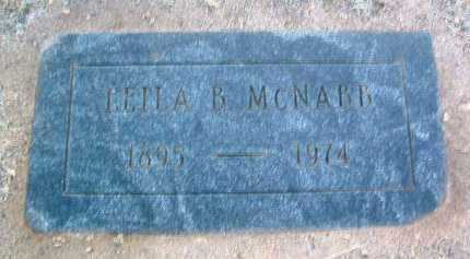 MCNABB, LEILA B. - Yavapai County, Arizona | LEILA B. MCNABB - Arizona Gravestone Photos