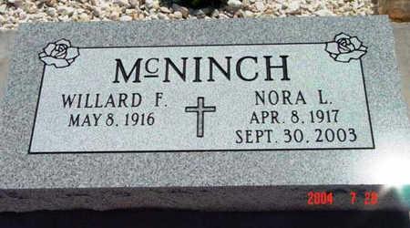 MCNINCH, NORA LEE - Yavapai County, Arizona   NORA LEE MCNINCH - Arizona Gravestone Photos