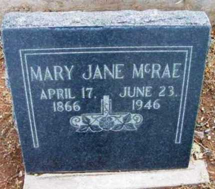 MCRAE, MARY JANE - Yavapai County, Arizona | MARY JANE MCRAE - Arizona Gravestone Photos