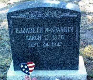 LEWIS MCSPARRIN, ELIZ. - Yavapai County, Arizona | ELIZ. LEWIS MCSPARRIN - Arizona Gravestone Photos