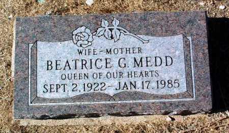 MEDD, BEATRICE G. - Yavapai County, Arizona   BEATRICE G. MEDD - Arizona Gravestone Photos
