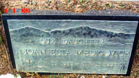 MEDIGOVICH, JOAN ELTA - Yavapai County, Arizona | JOAN ELTA MEDIGOVICH - Arizona Gravestone Photos