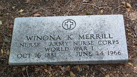 MERRILL, WINONA K. - Yavapai County, Arizona | WINONA K. MERRILL - Arizona Gravestone Photos