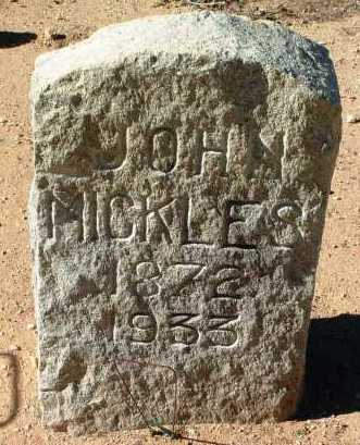 MICKLES, JOHN - Yavapai County, Arizona | JOHN MICKLES - Arizona Gravestone Photos