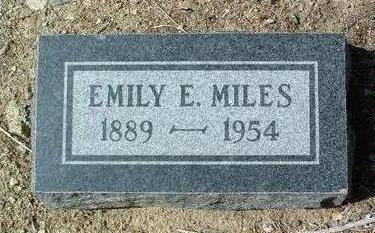 MILES, EMILY E. - Yavapai County, Arizona | EMILY E. MILES - Arizona Gravestone Photos