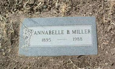 MILLER, ANNABELLE B. - Yavapai County, Arizona   ANNABELLE B. MILLER - Arizona Gravestone Photos