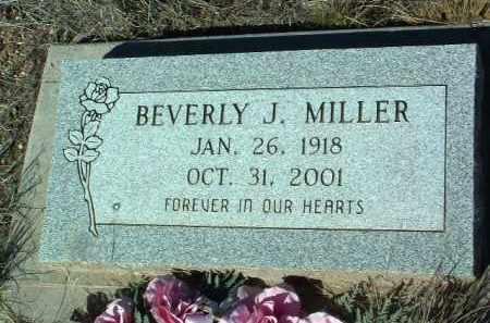 MILLER, BEVERLY J. - Yavapai County, Arizona | BEVERLY J. MILLER - Arizona Gravestone Photos