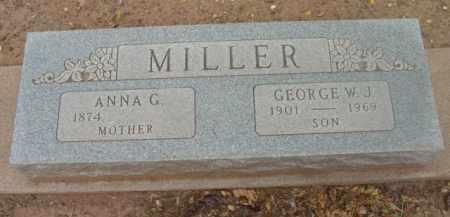 MILLER, ANNA G. - Yavapai County, Arizona | ANNA G. MILLER - Arizona Gravestone Photos