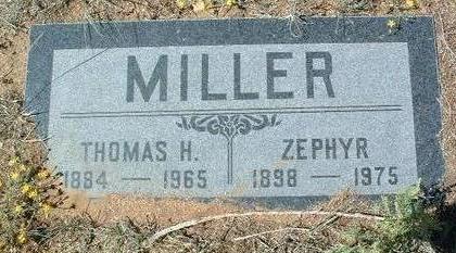 MILLER, ZEPHYR - Yavapai County, Arizona | ZEPHYR MILLER - Arizona Gravestone Photos