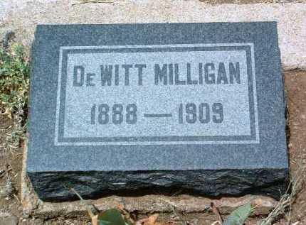 MILLIGAN, DEWITT - Yavapai County, Arizona | DEWITT MILLIGAN - Arizona Gravestone Photos