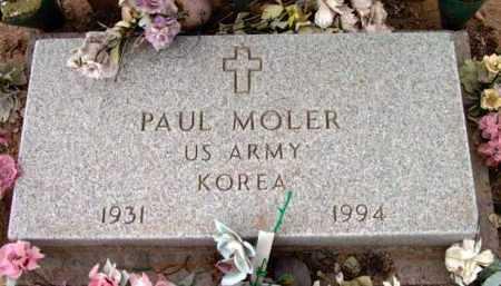 MOLER, PAUL - Yavapai County, Arizona | PAUL MOLER - Arizona Gravestone Photos