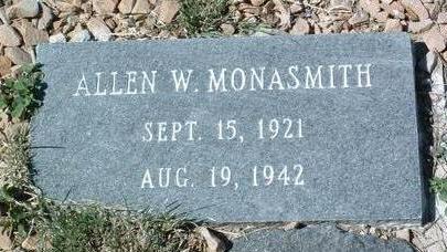 MONASMITH, ALLEN WILLIAM - Yavapai County, Arizona | ALLEN WILLIAM MONASMITH - Arizona Gravestone Photos