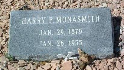 MONASMITH, HARRY FREDERICK - Yavapai County, Arizona | HARRY FREDERICK MONASMITH - Arizona Gravestone Photos