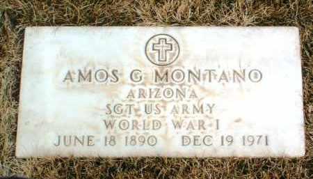MONTANO, AMOS GEORGE - Yavapai County, Arizona | AMOS GEORGE MONTANO - Arizona Gravestone Photos
