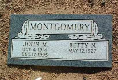 MONTGOMERY, JOHN M. - Yavapai County, Arizona | JOHN M. MONTGOMERY - Arizona Gravestone Photos