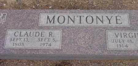 MONTONYE, CLAUDE RAY. - Yavapai County, Arizona   CLAUDE RAY. MONTONYE - Arizona Gravestone Photos