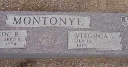 ECKERT MONTONYE, VIRGINIA IRENE - Yavapai County, Arizona | VIRGINIA IRENE ECKERT MONTONYE - Arizona Gravestone Photos
