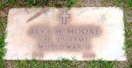 MOORE, ALVA W. - Yavapai County, Arizona | ALVA W. MOORE - Arizona Gravestone Photos