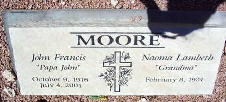 LAMBETH MOORE, NAOMA - Yavapai County, Arizona | NAOMA LAMBETH MOORE - Arizona Gravestone Photos
