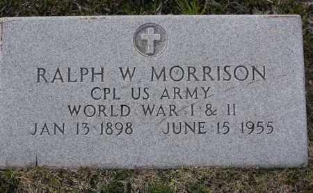 MORRISON, RALPH WESLEY - Yavapai County, Arizona | RALPH WESLEY MORRISON - Arizona Gravestone Photos