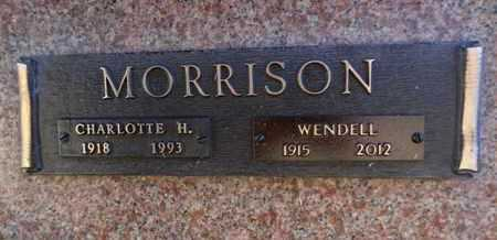 MORRISON, WENDELL C. - Yavapai County, Arizona | WENDELL C. MORRISON - Arizona Gravestone Photos
