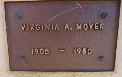 MOYER, VIRGINIA A - Yavapai County, Arizona   VIRGINIA A MOYER - Arizona Gravestone Photos