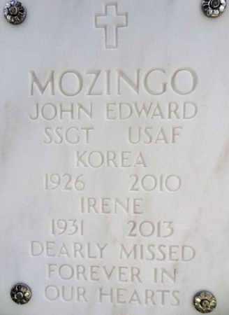 MOZINGO, IRENE - Yavapai County, Arizona | IRENE MOZINGO - Arizona Gravestone Photos
