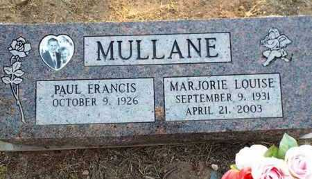 KING MULLANE, MARJORIE LOUISE - Yavapai County, Arizona | MARJORIE LOUISE KING MULLANE - Arizona Gravestone Photos