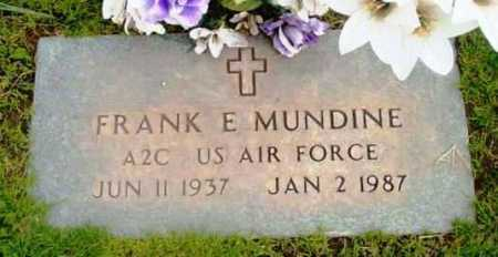 MUNDINE, FRANK EDWARD - Yavapai County, Arizona   FRANK EDWARD MUNDINE - Arizona Gravestone Photos