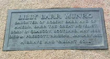 MUNRO, LILLY BARR - Yavapai County, Arizona | LILLY BARR MUNRO - Arizona Gravestone Photos