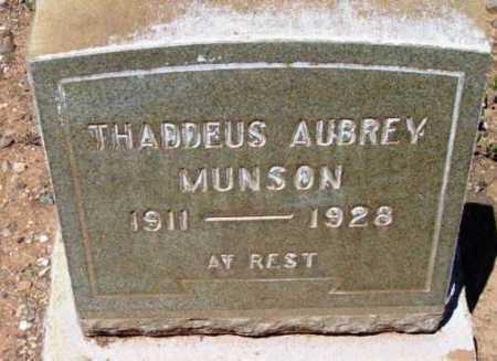 MUNSON, THADDEUS AUBREY - Yavapai County, Arizona   THADDEUS AUBREY MUNSON - Arizona Gravestone Photos