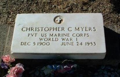MYERS, CHRISTOPHER C. - Yavapai County, Arizona | CHRISTOPHER C. MYERS - Arizona Gravestone Photos