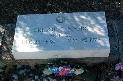 MYERS, CRESSIE P. - Yavapai County, Arizona | CRESSIE P. MYERS - Arizona Gravestone Photos