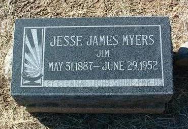 MYERS, JESSE JAMES - Yavapai County, Arizona | JESSE JAMES MYERS - Arizona Gravestone Photos