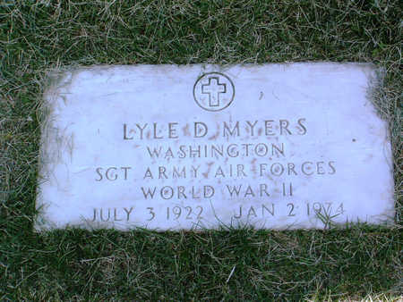 MYERS, LYLE D. - Yavapai County, Arizona | LYLE D. MYERS - Arizona Gravestone Photos