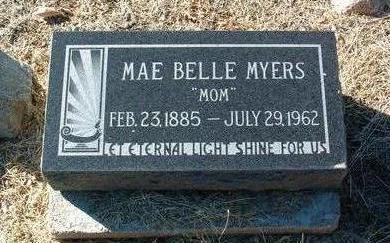 MYERS, MAE BELLE - Yavapai County, Arizona | MAE BELLE MYERS - Arizona Gravestone Photos