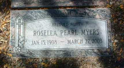 MYERS, ROSELLA PEARL - Yavapai County, Arizona | ROSELLA PEARL MYERS - Arizona Gravestone Photos
