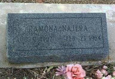 NAJERA, RAMONA - Yavapai County, Arizona | RAMONA NAJERA - Arizona Gravestone Photos