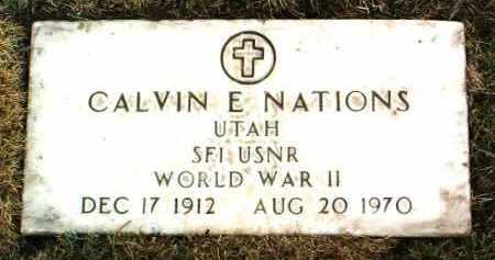 NATIONS, CALVIN E. - Yavapai County, Arizona | CALVIN E. NATIONS - Arizona Gravestone Photos