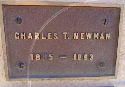 NEWMAN, CHARLES THOMAS - Yavapai County, Arizona   CHARLES THOMAS NEWMAN - Arizona Gravestone Photos