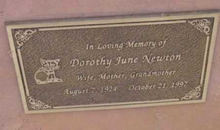 NEWTON, DOROTHY JUNE - Yavapai County, Arizona | DOROTHY JUNE NEWTON - Arizona Gravestone Photos