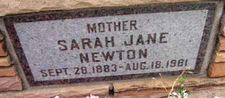 NEWTON, SARAH JANE - Yavapai County, Arizona | SARAH JANE NEWTON - Arizona Gravestone Photos
