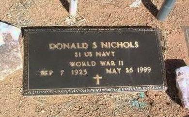 NICHOLS, DONALD STERRY - Yavapai County, Arizona | DONALD STERRY NICHOLS - Arizona Gravestone Photos