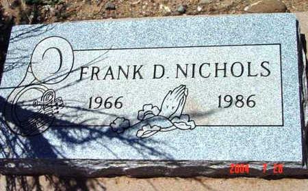 NICHOLS, FRANK DALE - Yavapai County, Arizona | FRANK DALE NICHOLS - Arizona Gravestone Photos