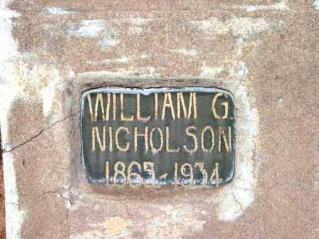 NICHOLSON, WILLIAM G. - Yavapai County, Arizona | WILLIAM G. NICHOLSON - Arizona Gravestone Photos