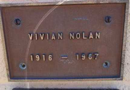 NOLAN, VIVIAN - Yavapai County, Arizona | VIVIAN NOLAN - Arizona Gravestone Photos