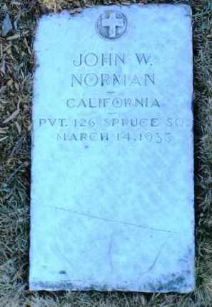NORMAN, JOHN WILLIE - Yavapai County, Arizona   JOHN WILLIE NORMAN - Arizona Gravestone Photos
